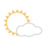 Sun Behind Small Cloud on emojidex 1.0.34