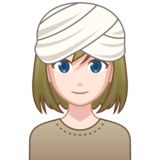 Woman Wearing Turban: Light Skin Tone on emojidex 1.0.34