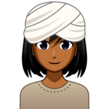 Woman Wearing Turban: Medium-Dark Skin Tone on emojidex 1.0.34