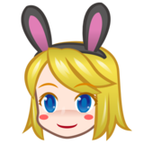 People With Bunny Ears, Type-1-2 on emojidex 1.0.34