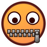 Zipper-Mouth Face on emojidex 1.0.34