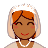 Bride With Veil: Medium-Dark Skin Tone on emojidex 1.0.14