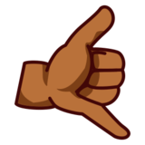 Call Me Hand: Medium-Dark Skin Tone on emojidex 1.0.14