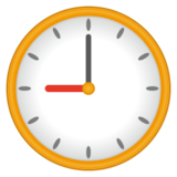 🕘 Nine O'Clock Emoji on emojidex 1 0 14