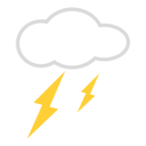 Cloud With Lightning on emojidex 1.0.14