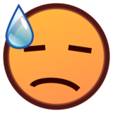 Downcast Face With Sweat on emojidex 1.0.14