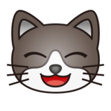 Grinning Cat Face With Smiling Eyes on emojidex 1.0.14
