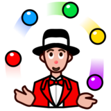 Person Juggling: Medium-Light Skin Tone on emojidex 1.0.14