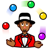 Person Juggling: Medium-Dark Skin Tone on emojidex 1.0.14
