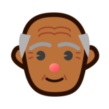 Old Man: Medium-Dark Skin Tone on emojidex 1.0.14