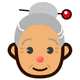 Old Woman: Medium Skin Tone on emojidex 1.0.14
