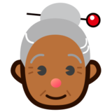 Old Woman: Medium-Dark Skin Tone on emojidex 1.0.14