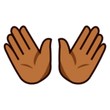 Open Hands: Medium-Dark Skin Tone on emojidex 1.0.14