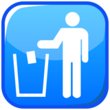 Litter in Bin Sign on emojidex 1.0.14