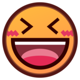 Grinning Squinting Face on emojidex 1.0.14