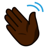 Waving Hand: Dark Skin Tone on emojidex 1.0.14