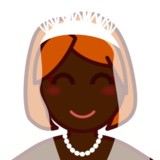 Person With Veil: Dark Skin Tone on emojidex 1.0.19