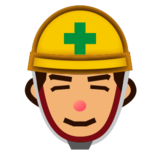 Construction Worker: Medium Skin Tone on emojidex 1.0.19