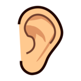 Ear: Medium-Light Skin Tone on emojidex 1.0.19