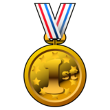 1st Place Medal on emojidex 1.0.19