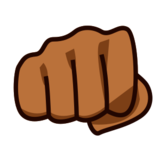 Oncoming Fist: Medium-Dark Skin Tone on emojidex 1.0.19