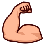 Flexed Biceps: Medium-Light Skin Tone on emojidex 1.0.19