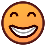 Beaming Face with Smiling Eyes on emojidex 1.0.19
