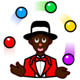 Person Juggling: Dark Skin Tone on emojidex 1.0.19