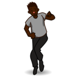 Man Dancing: Dark Skin Tone on emojidex 1.0.19