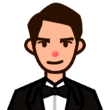 Person in Tuxedo: Medium-Light Skin Tone on emojidex 1.0.19