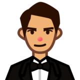 Man in Tuxedo: Medium Skin Tone on emojidex 1.0.19