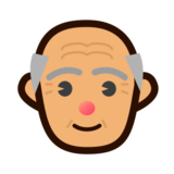Old Man: Medium Skin Tone on emojidex 1.0.19