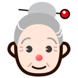 Old Woman: Light Skin Tone on emojidex 1.0.19
