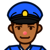 Police Officer: Medium-Dark Skin Tone on emojidex 1.0.19