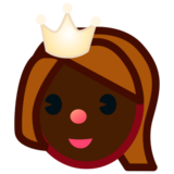 Princess: Dark Skin Tone on emojidex 1.0.19