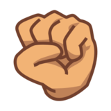 Raised Fist: Medium Skin Tone on emojidex 1.0.19