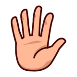 Hand with Fingers Splayed: Medium-Light Skin Tone on emojidex 1.0.19