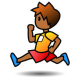 Person Running: Medium-Dark Skin Tone on emojidex 1.0.19