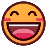 Grinning Face with Smiling Eyes on emojidex 1.0.19