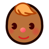 Baby: Medium-Dark Skin Tone on emojidex 1.0.22