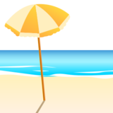 Beach With Umbrella on emojidex 1.0.22