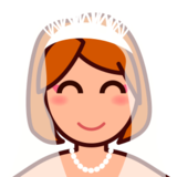 Bride With Veil: Medium-Light Skin Tone on emojidex 1.0.22