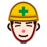 Construction Worker: Light Skin Tone on emojidex 1.0.22