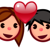 Couple With Heart: Medium-Light Skin Tone on emojidex 1.0.22