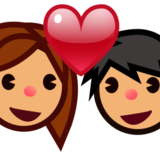 Couple With Heart, Type-4 on emojidex 1.0.22