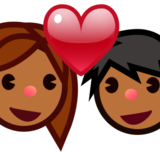 Couple With Heart, Type-5 on emojidex 1.0.22
