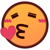 Face Blowing a Kiss on emojidex 1.0.22