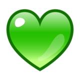 Green Heart on emojidex 1.0.22