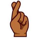 Crossed Fingers: Medium-Dark Skin Tone on emojidex 1.0.22
