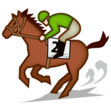 Horse Racing: Light Skin Tone on emojidex 1.0.22